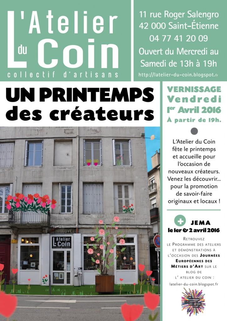 ExpoVente Printemps créateurs Atelier du Coin