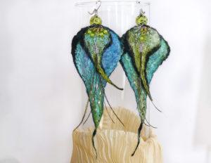 bo-2-feuille-feutre-lampwork-vert-turquoise