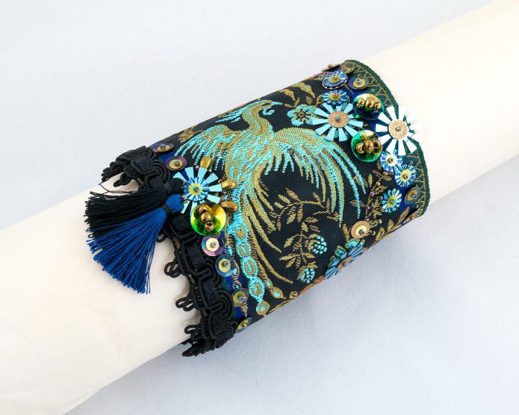 bracelet-manchette Ruban-Jacquard-Brode