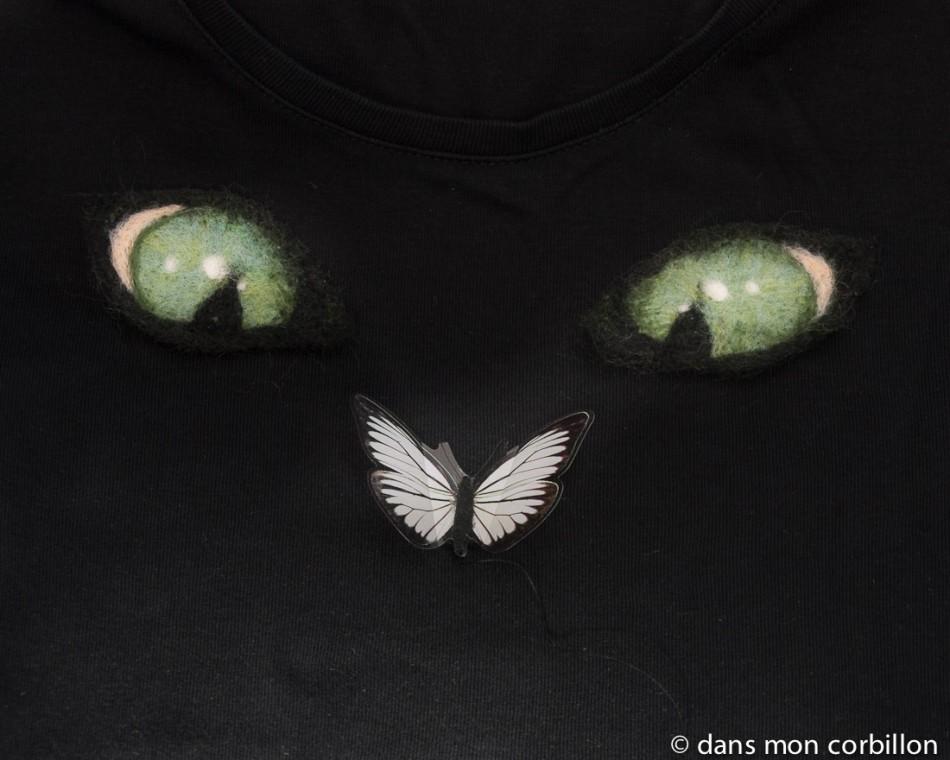defi-patch-feutre-yeux-chat-vert-papillon