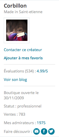 screenshot ALM boutique Corbillon panneau stat