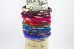 bracelet bangles laine feutrée camouflage