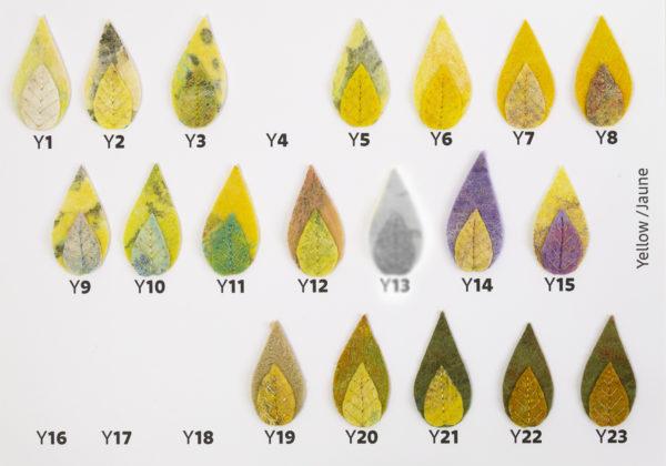 patch écusson à coudre feuilles feutre brodées