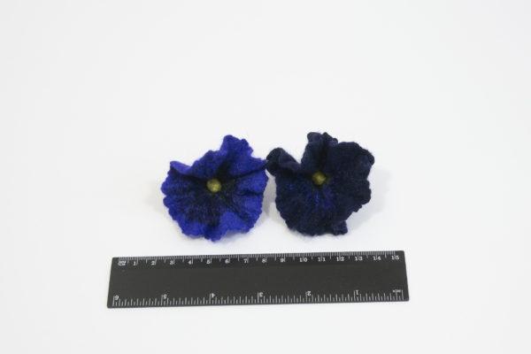 fleurs laine feutrée felted-flowers pétunia