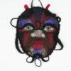 masque décoration murale laine feutree visage
